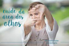"""A região dos olhos precisa de cuidados especiais! 😀  A pele ao redor dos olhos é mais sensível e muito fina, por isso é uma das primeiras a demonstrar os sinais de envelhecimento, """"pés de galinha"""", por exemplo.   É importante usar filtro solar e utilizar produtos específicos e seguros.   Agende sua consulta e conheça os melhores tratamentos!     #Beleza #PeleSaudável #Dermatologia #AreaDosOlhos #Dermato"""
