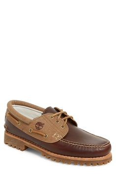 73df035dadc Timberland  Authentic - 3 Eyelet  Lugged Boat Shoe (Men) Boat Shoes