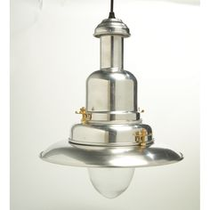 Large Silver Fisherman's Pendant Light a traditional light looking modern with its polished finish giving it a chrome industrial look