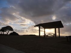 This was taken at Lydgate Park, Kauai. Sunrise with a small picnic area.