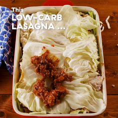 Lasagna Low-carb cabbage lasagna is so good, you won't even miss the pasta. Get the recipe at .Low-carb cabbage lasagna is so good, you won't even miss the pasta. Get the recipe at . Beef Recipes, Vegetarian Recipes, Cooking Recipes, Healthy Recipes, Chicken Recipes, Cabbage Low Carb Recipes, Potato Recipes, Low Carb Hamburger Recipes, Keto Cabbage Recipe