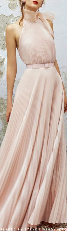Luisa Beccaria Spring 2018 - Georgette Halter Neck Maxi Dress #luisabeccaria #ss18 #spring2018