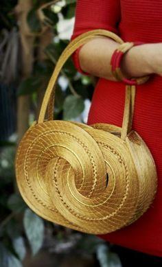 Sac Marika, bag , brésil, brazil, capim dourado, l'or végétal, accessoiries, or, gold