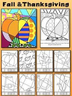 "Fall and Thanksgiving Art Activity: ""Pop Art"" Interactive:"