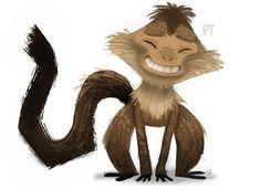 La risa es un remedio infalible para curar el mal humor y este mono lo sabe muy bien. Sketch Pad, Cute Illustration, Cartoon Styles, Drawing Reference, Character Design, Creatures, Deviantart, Gallery, Drawings