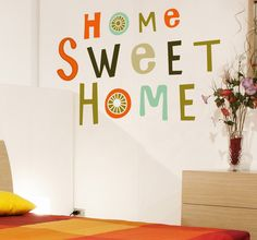 Home sweet #home! Home is the best place on earth! #quote #decoration #idea #DIY #wall #art #decor