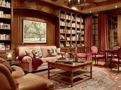 Scavullo-design-interiors   -   Dering Hall  I love the built in shelves!