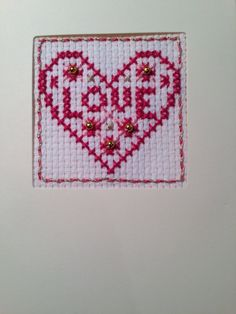 Heart Embroidery. Very easy kit. Ages 6 and up by CrosswiseDesigns