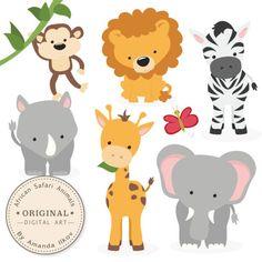 African Safari Animals - Clipart