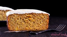 Orange And Carrot Cake. Simple, delicious and free from gluten, grains, dairy, nuts and refined sugar. Enjoy.
