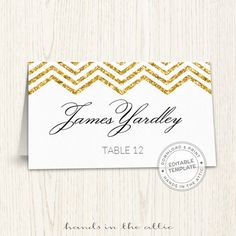 editable wedding place cards gold chevron printable seating cards escort cards template guest na