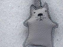 Schlüsselanhänger graue Katze