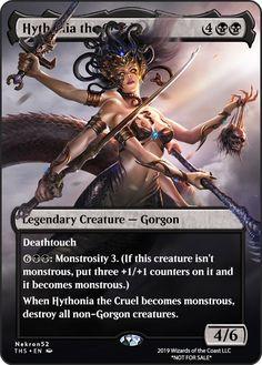 Medusa Art, Mtg Altered Art, Mtg Art, Legendary Creature, Magic The Gathering Cards, Alternative Art, Magic Cards, Monster Art, Character Portraits