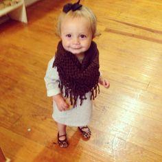 Children's scarves at Adella Apparel Fringe scarf  Toddler fashion