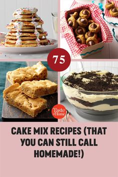 These great cake mix recipes use the store-bought mix as an ingredient, not an end point. Your gorgeous dessert will still be distinctive and delicious—and look nothing like the photo on the box. Brownie Mix Recipes, Cake Mix Recipes, Bar Recipes, Potluck Desserts, Feeding A Crowd, Taste Of Home, Dessert Bars, Recipe Using, 21st Century