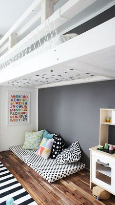 Floor Seating | Black and White Kids Room | ohhhmhhh