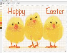Easter embroidery pattern