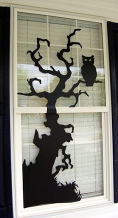 halloween decor - could paint it with glow in the dark paint too - or put a light behind it.