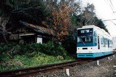 Tram was running the city of Gifu