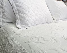 'Belo' simply meaning beautiful in Portuguese is the perfect name for this Luxury White Quilted Bedding Set. Why not indulge yourself and transform your bedroom into a haven this winter, creating the perfect atmosphere for you to wind down in and enjoy the ultimate sleeping experience after a long day at work.    *Two Pillowcases Included  *100% Cotton  *Machine washable (cold wash)  *Made in Portugal  *Matching scatter cushions also available.
