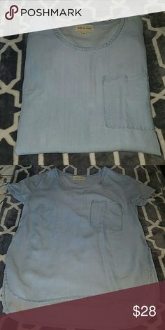 """cloth & stone tencel EUC  24"""" front 26"""" back Anthropologie Tops"""