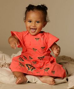 Loving this Coral Ammi Dress - Infant on #zulily! #zulilyfinds