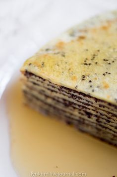 Poppy Seed Blini with Honey
