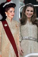 Queen Raina coronation day and 10 years later. Same dress. Love.