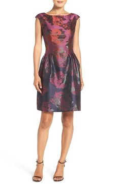 $148 Vince Camuto Jacquard Fit & Flare Dress (Regular & Petite) available at #Nordstrom