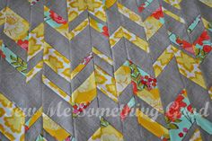 From Strips to Chevrons - tutorial - how to make these chevrons by making strips with fabric cut to varying widths | Sew Me Something Good