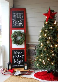 The inspiration for Christmas Decor can come from a lot of places. We found some of the best Christmas Porch Ideas to help you get your home holiday ready and your curb appeal top notch!