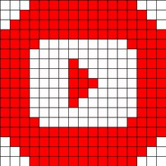 Logo Youtube perler bead pattern