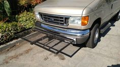 Got a cargo rack for the front hitch. 2007 Ford e350 Clubwagon.