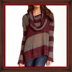 Free people striped cowl neck sweater Free people. Medium. Striped cowl neck sweater. Worn once. Free People Sweaters Cowl & Turtlenecks