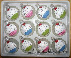 Mud Pie Studio: Christmas Ornaments - Cupcakes & Snowmen