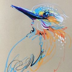 Animalines Kingfisher original lines drawing by Tilen Ti Art Pastel Drawing, Pastel Art, Painting & Drawing, 3d Drawings, Animal Drawings, Pencil Drawings, Bird Line Drawing, Drawing Birds, Drawing People