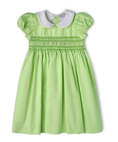 056e5b80676b5 Fantaisie Kids Green Smocked Peter Pan Collar Dress - Toddler. Toddler Girl  DressesToddler ...