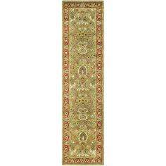 Safavieh Handmade Persian Legend Light Green/ Rust Wool Rug (2'6 x 18') $224.39 (sale price) Stairs - first choice