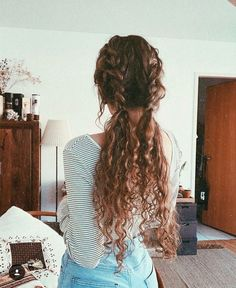 Black Wigs Lace Frontal Wigs Brazilian Curly Hair Wig – hairstyles for curly hair natural Pretty Hairstyles, Wig Hairstyles, Long Curly Hairstyles, Braids For Curly Hair, Naturally Curly Hairstyles, Hairstyle Ideas, Curly Hair Braid Styles, Long Braids, Short Haircuts