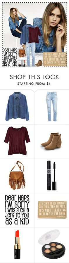 """""""Learn to dance in the rain"""" by im-a-daydreamer ❤ liked on Polyvore featuring Topshop, Paige Denim, American Eagle Outfitters, Primitives By Kathy and Bobbi Brown Cosmetics"""