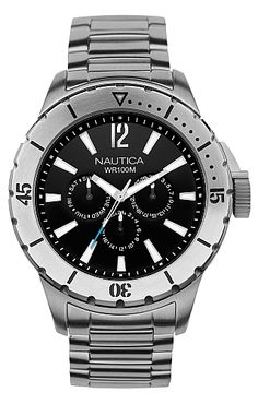 Unspecified's NSR-05 Black Dial Chronograph Watch - Nautica.com