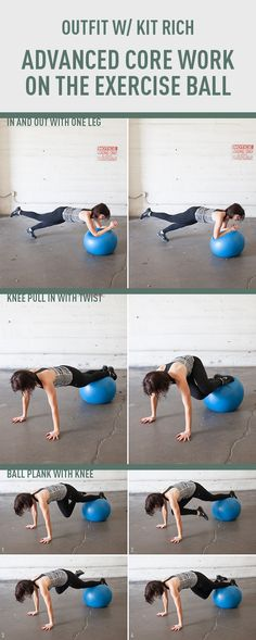 Advanced Core Work on the Exercise Ball. www.gymra.com/... #fitness #exercise #weightloss #diet #fitspiration #fitspo #health