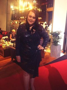 Star of My Mad Fat Diary - Sharon Rooney wearing SLiNK to the BAFTA Scotland awards… #plussize #fashion