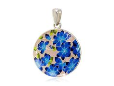 Custom Russian Silver Pendants with Hot Enamel by AnnaWeissArt