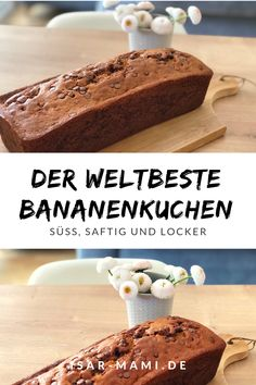 Bolo de banana suculento a partir dos EUA - Kuchen, Cookies, Muffins und noch mehr Süßes! Easy Cookie Recipes, Healthy Dessert Recipes, Cake Recipes, Banana Design, Bowl Cake, Peanut Butter Chips, Savoury Cake, Food Cakes, Clean Eating Snacks