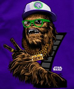 MC Chewy #starwars #geeky #illustration #funny