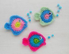 Angel Fish Crochet applique