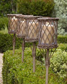 tiki torches, have to get for summer! These are way cuter then the originals!