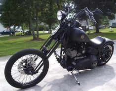 Photo of 2007 Harley Davidson Springer Softail Nighttrain Bobber bike by Allan.For hanny poot