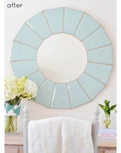 Beautiful DIY Mirror from Thrifted Lamp.